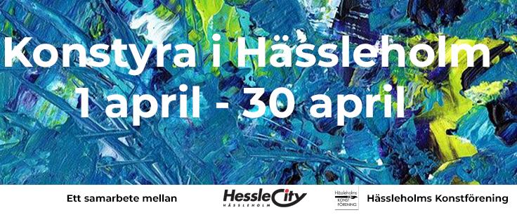 Konstyra i Hässleholm 1-30 april