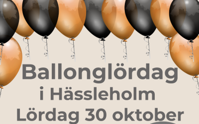 Ballonglördag i Hässleholm 30 okt